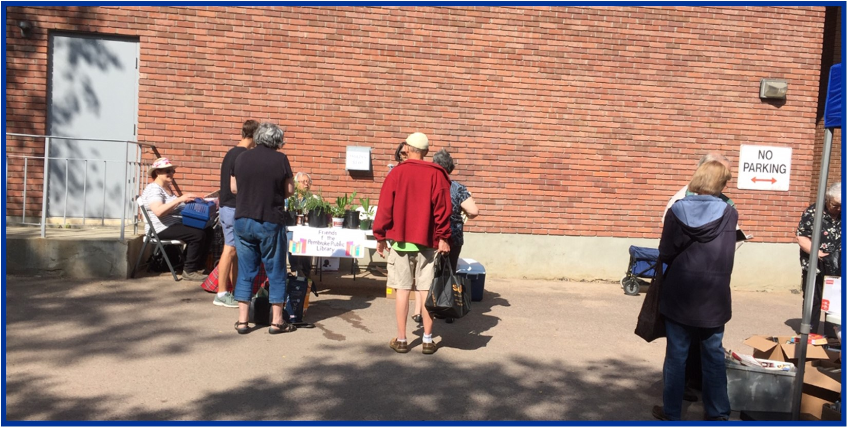 Photo of the Friends of the Library Plant Sale